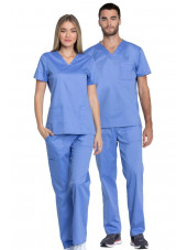 "Blouse médicale femme, Dickies, Collection ""Genuine"" (GD600) bleu ciel couple"