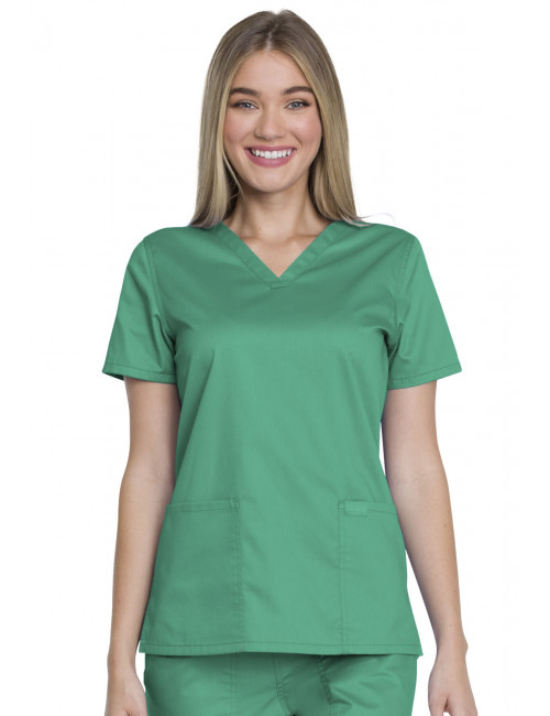 "Blouse médicale femme, Dickies, Collection ""Genuine"" (GD600) vert face"