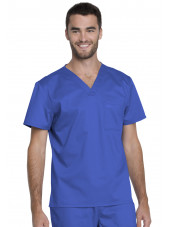 "Blouse médicale Unisexe, Dickies, Collection ""Genuine"" (GD620), couleur bleu royal vue face"