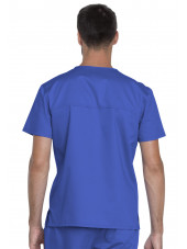 "Blouse médicale Unisexe, Dickies, Collection ""Genuine"" (GD620), couleur bleu royal vue dos"