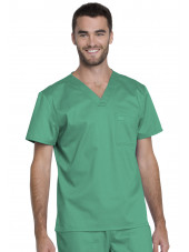 "Blouse médicale Unisexe, Dickies, Collection ""Genuine"" (GD620), couleur vert vue face"