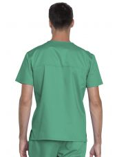 "Blouse médicale Unisexe, Dickies, Collection ""Genuine"" (GD620), couleur vert vue dos"
