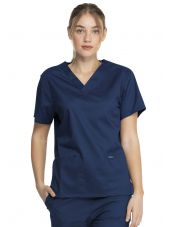 "Blouse médicale 2 poches Femme, Dickies, Collection ""Genuine"" (GD640), couleur bleu marine vue face"