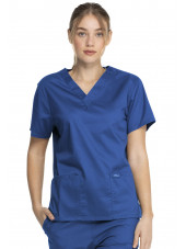 "Blouse médicale 2 poches Femme, Dickies, Collection ""Genuine"" (GD640), couleur bleu royal vue face"