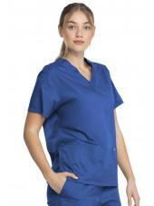 """Blouse médicale 2 poches Femme, Dickies, Collection """"Genuine"""" (GD640), couleur bleu royal vue droit"""