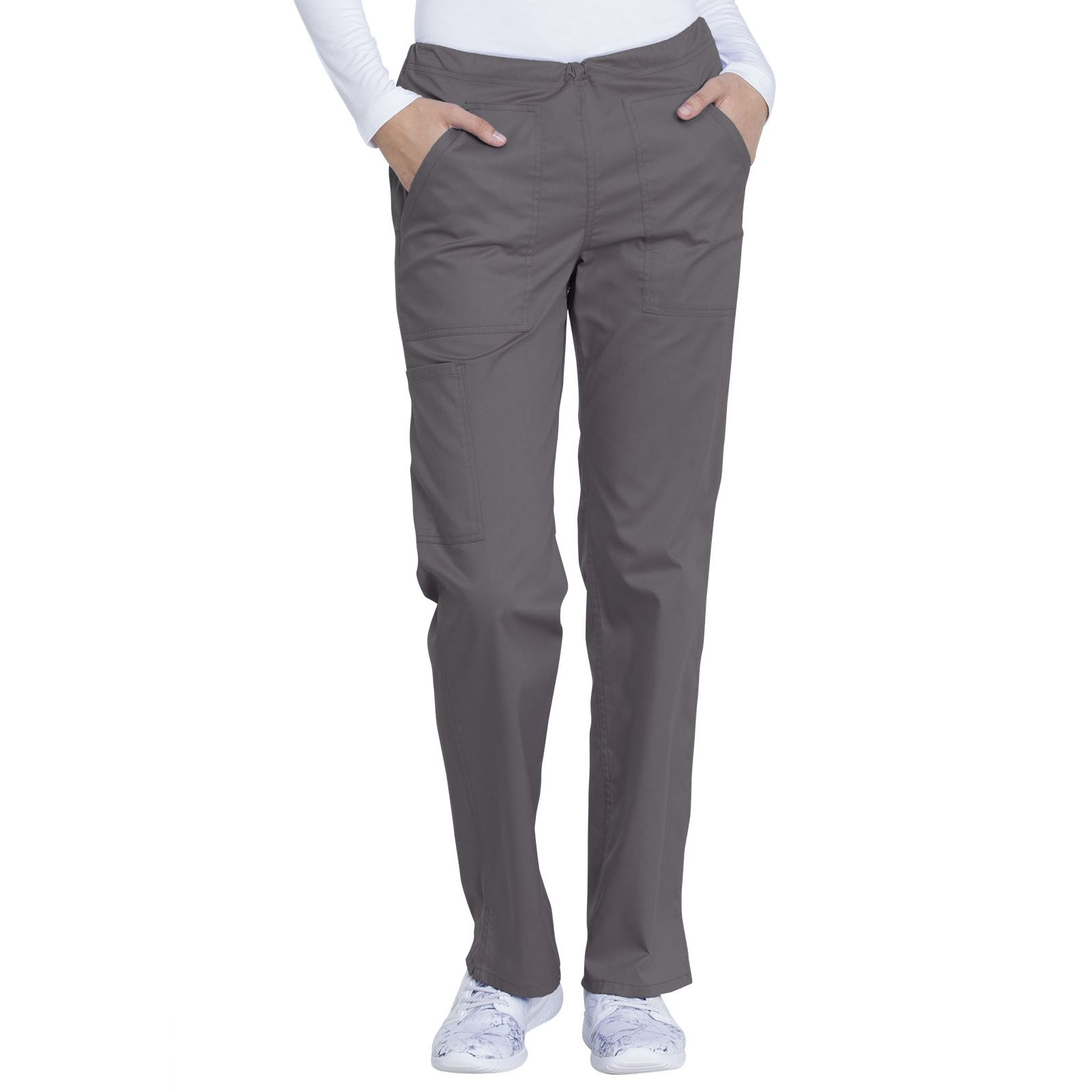 "Pantalon médical, femme, Dickies, Collection ""Genuine"" (GD100) gris face"