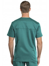 "Tunique médicale homme, Cherokee ""Revolution "" (WW755AB) teal blue dos"