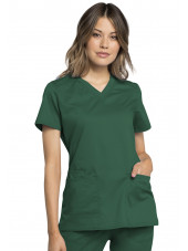 "Blouse médicale homme, Cherokee ""Revolution "" (WW770AB) vert chirurgien face"