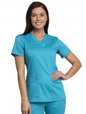 "Blouse médicale homme, Cherokee ""Revolution "" (WW770AB) turquoise face"