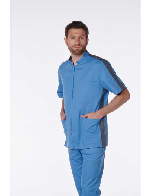 Medical Blouse, Man, Bicolor, Trendy, Camille Lavandie (2622)