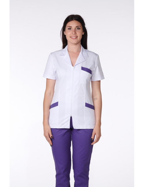 Medical Blouse, Woman, Bicolor, Trendy, Camille Lavandie (2613)