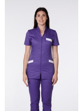 Medical Blouse, Woman, Bicolor, Trendy, Camille Lavandie (2611)