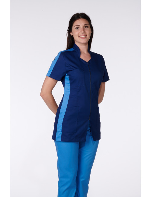 Medical Blouse, Woman, Bicolor, Trendy, Camille Lavandie (2617)