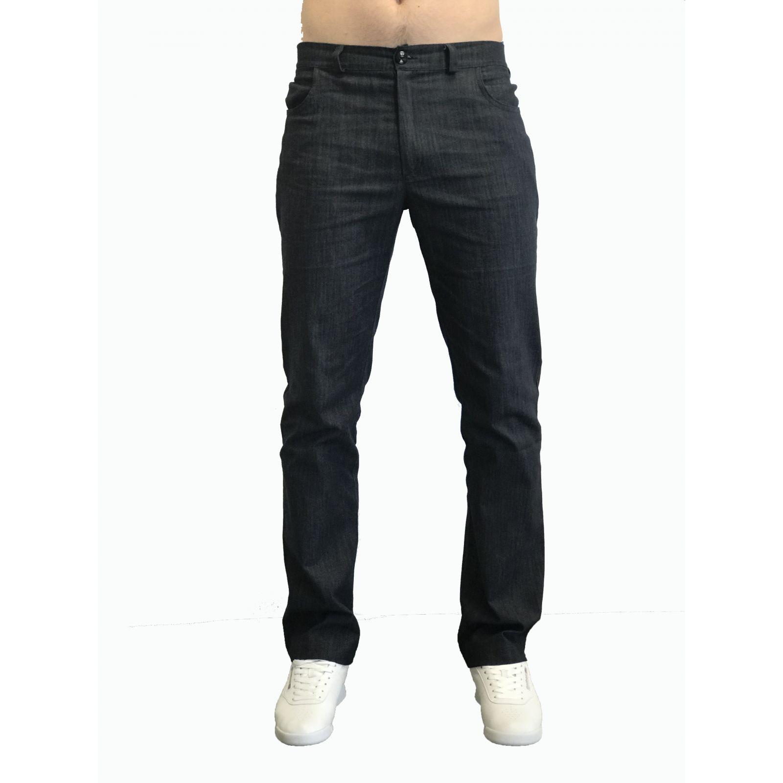 Pantalon Médical Homme Denim Uni, Trendy, couleur effet jean, vue de face, Camille Lavandie (281)