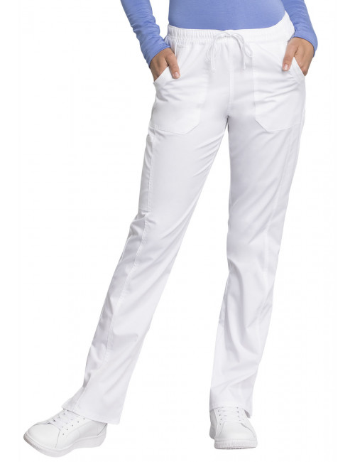 "Pantalon médical femme, Cherokee ""Revolution tech"" (WW235AB) blanc face"