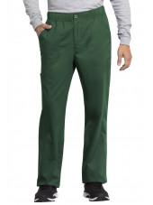 "Pantalon médical homme, Cherokee ""Revolution tech"" (WW250AB) vert face"