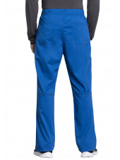 "Pantalon médical homme, Cherokee ""Revolution tech"" (WW250AB) bleu royal dos"