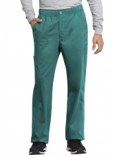 "Pantalon médical homme, Cherokee ""Revolution tech"" (WW250AB) teal blue face"