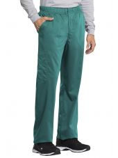 "Pantalon médical homme, Cherokee ""Revolution tech"" (WW250AB) teal blue coté"