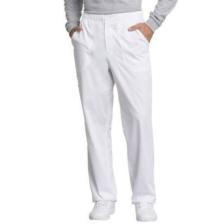 "Pantalon médical homme, Cherokee ""Revolution tech"" (WW250AB) blanc face"