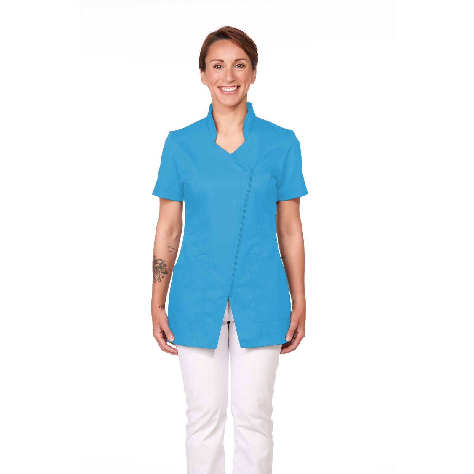 Blouse Médicale Femme, Sweety, couleur Bleu Santorin, Camille Lavandie (2619)