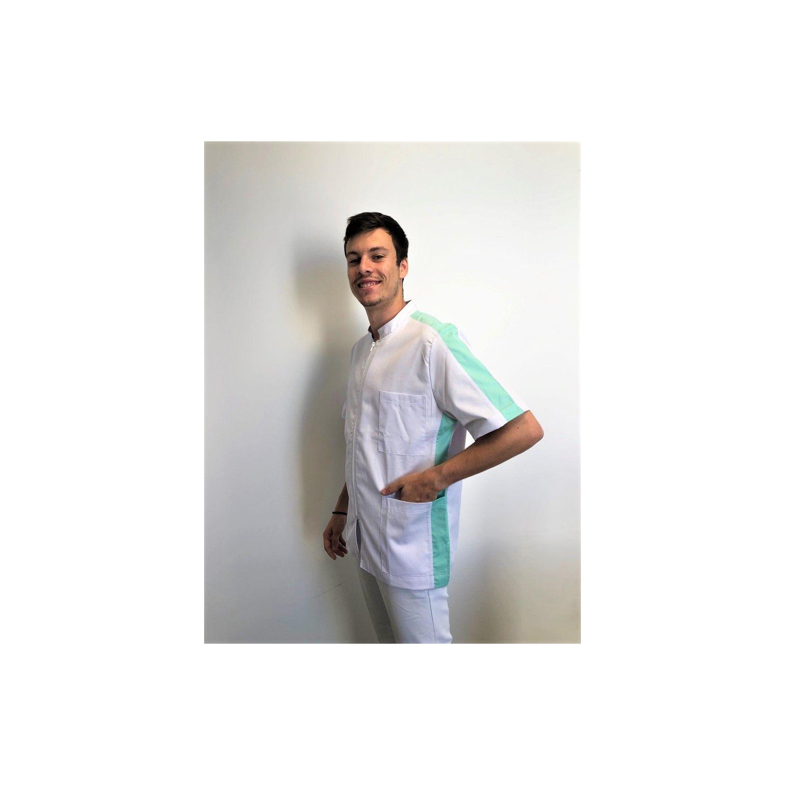 Blouse Médicale, Homme, Bicolore, Trendy, Camille Lavandie (2622)