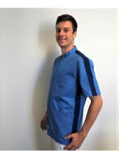 Blouse Médical, Homme, Bicolore Trendy, Camille Lavandie (047)