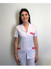 Blouse Médicale, Femme, Bicolore, Trendy, Camille Lavandie (2613)