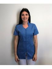 Blouse Médicale, Femme, Bicolore, Trendy, Camille Lavandie (2617)