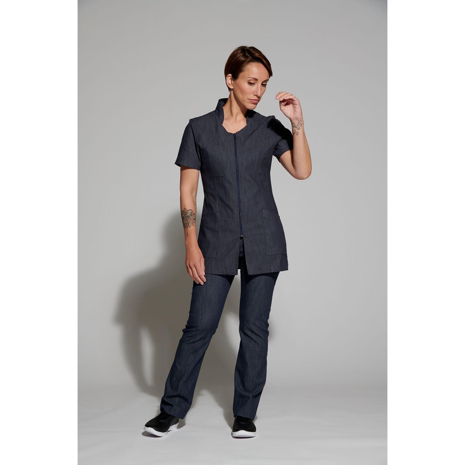 Pantalon Médical Femme  Dénim Uni, Trendy, Camille Lavandie (282)