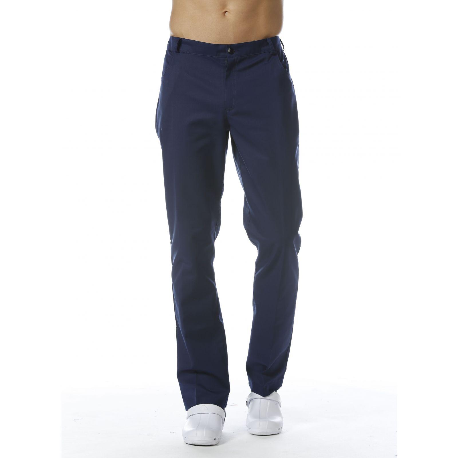 Pantalon  Médical Homme Sweety, couleur Bleu de Chine, vue de face, Camille Lavandie (281)