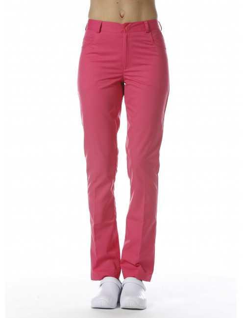 Pantalon Médical Femme Sweety, couleur Grenadine, vue de face, Camille Lavandie (282)