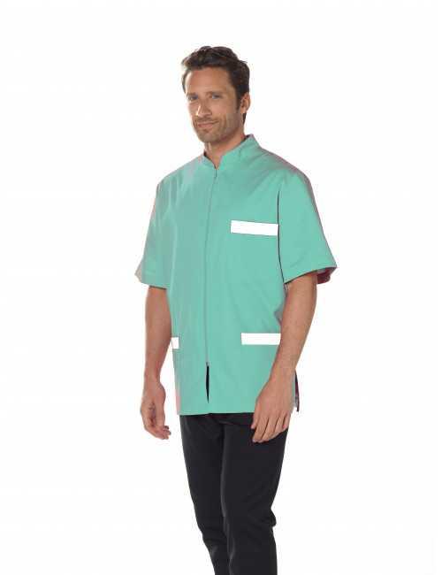 Medical Blouse, Man, Bicolor, Trendy, Camille Lavandie (047)