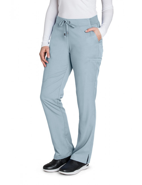 "Pantalon médical femme ""Grey's Anatomy"", Barco (4277-) gris clair face"