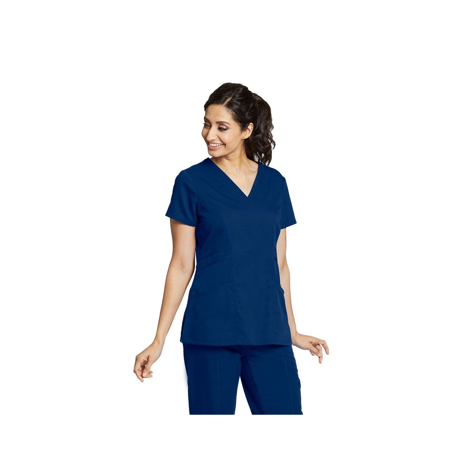 """Blouse médicale femme, coloris bleu marine, vue de face, collection """"Grey's Anatomy Classic"""" (41452-)"""