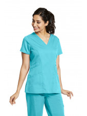 "Blouse médicale femme, coloris teal blue, vue de face, collection ""Grey's Anatomy Classic"" (41452-)"