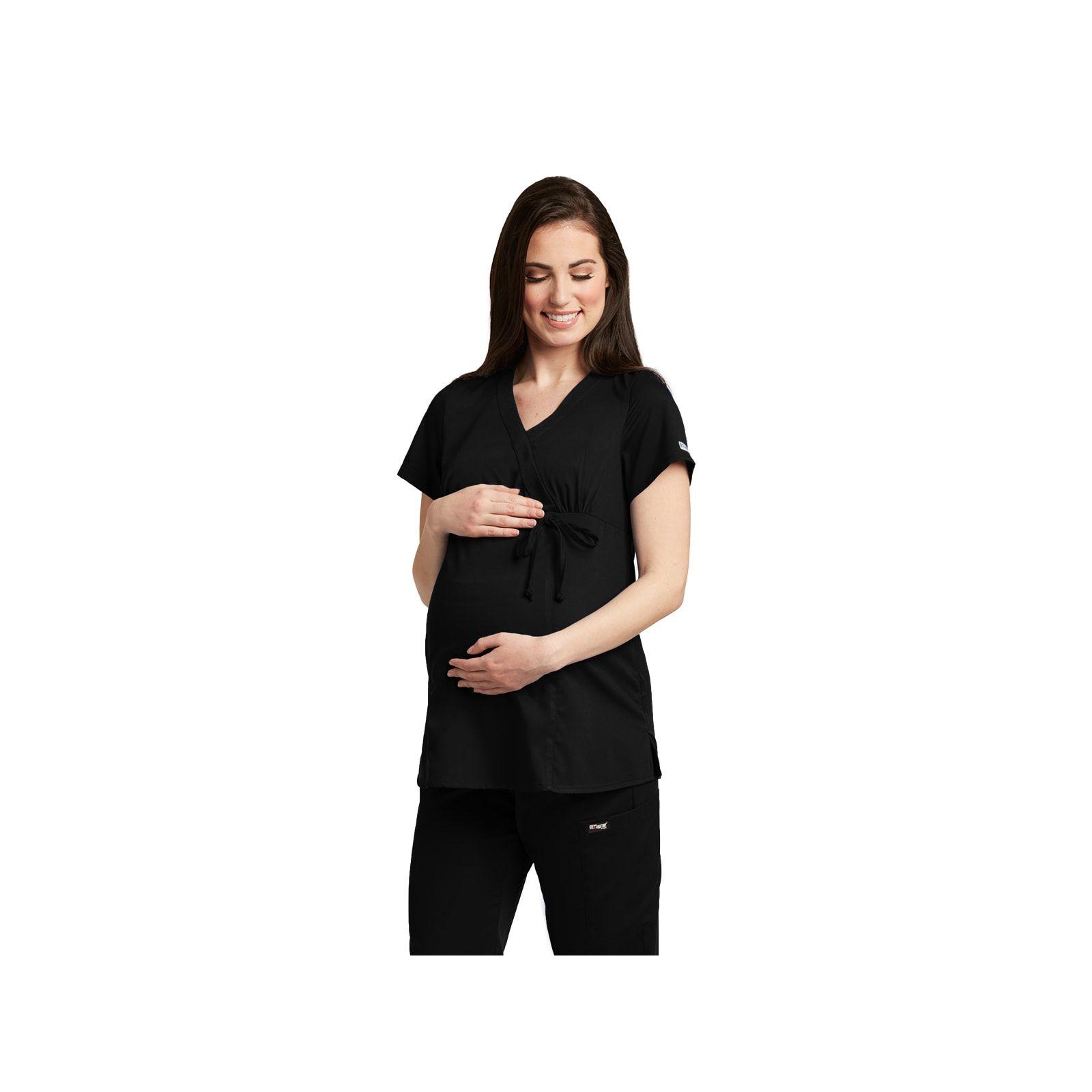"""Blouse médicale femme, couleur noir, vue de face, collection """"Grey's Anatomy Classic"""" (6103-)"""