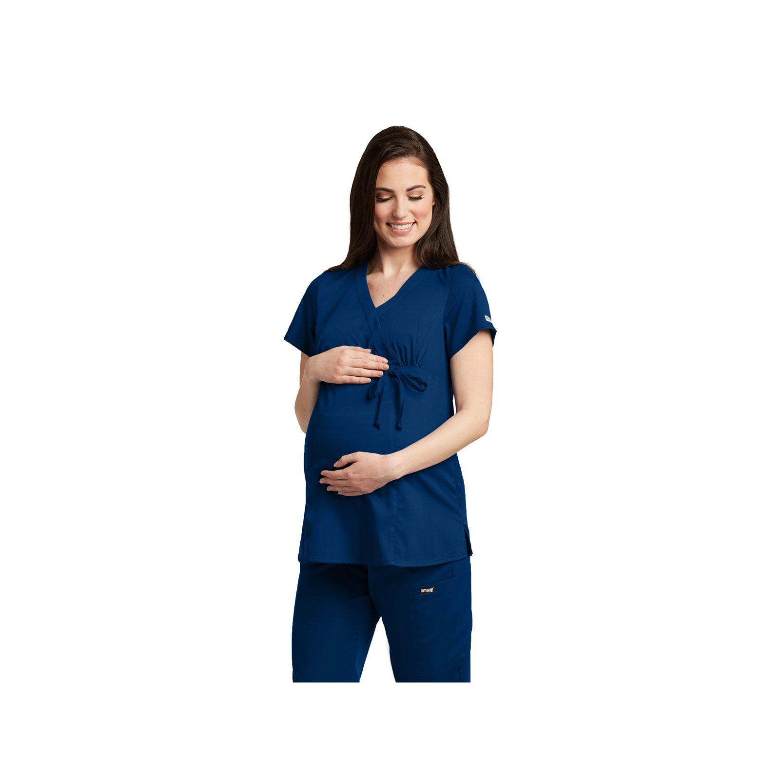 """Blouse médicale femme, couleur bleu marine, vue de face, collection """"Grey's Anatomy Classic"""" (6103-)"""
