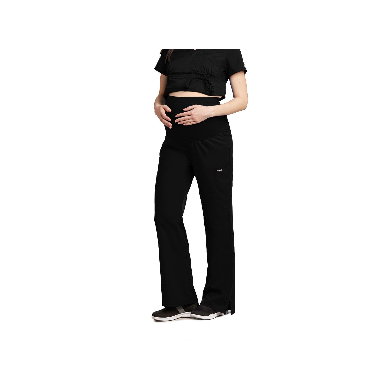 """Pantalon médical maternité, couleur noir vue de face, """"Grey's Anatomy"""", Barco (6202-)"""