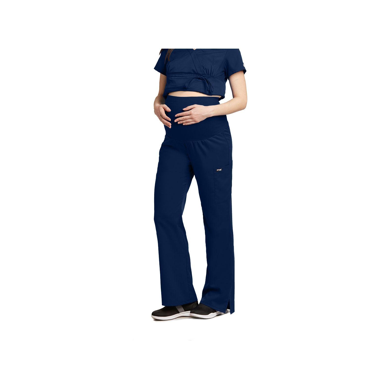 """Pantalon médical maternité, couleur bleu marine vue de face, """"Grey's Anatomy"""", Barco (6202-)"""