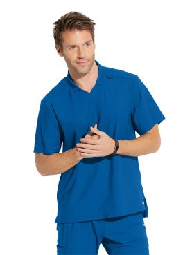 "Blouse médicale homme, couleur bleu royal vue de face, collection ""Grey's Anatomy Edge"" (GET009-)"