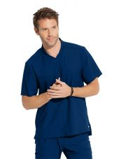 "Blouse médicale homme, couleur bleu marine vue de face, collection ""Grey's Anatomy Edge"" (GET009-)"