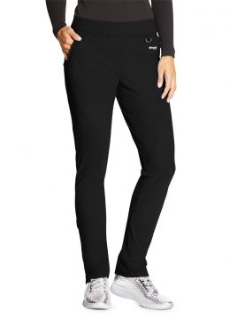 "Pantalon médical femme, couleur noir vue de face, collection ""Grey's Anatomy Edge"" (GEP005-)"