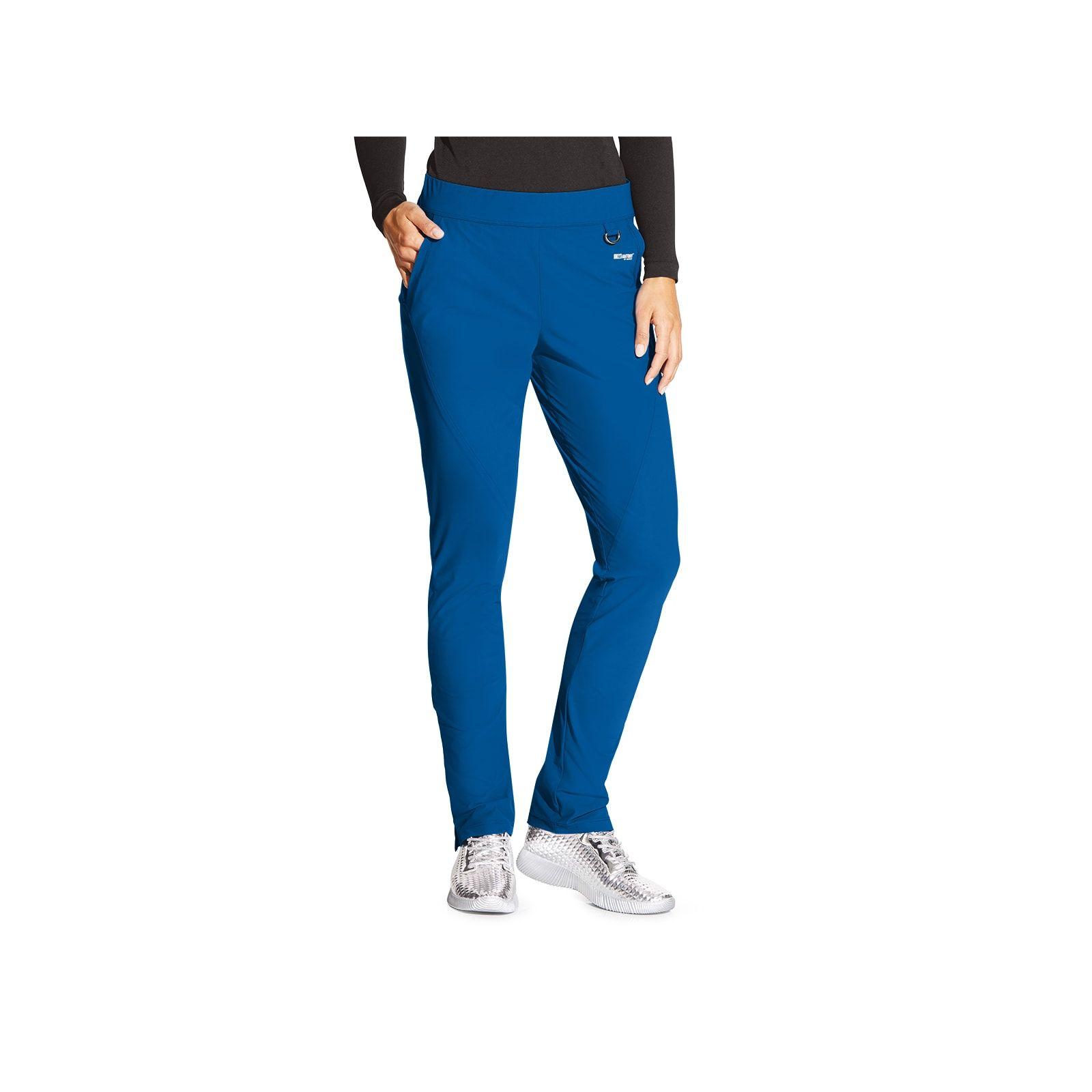"Pantalon médical femme, couleur bleu royal vue de face, collection ""Grey's Anatomy Edge"" (GEP005-)"