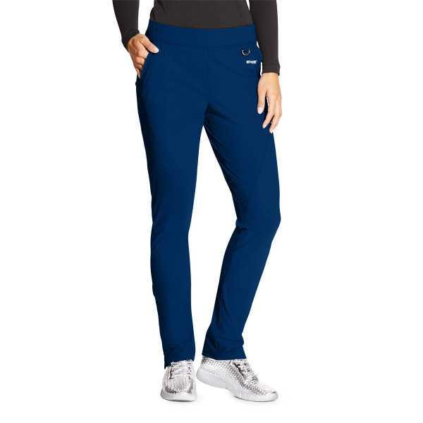 """Pantalon médical femme, couleur bleu marine vue de face, collection """"Grey's Anatomy Edge"""" (GEP005-)"""