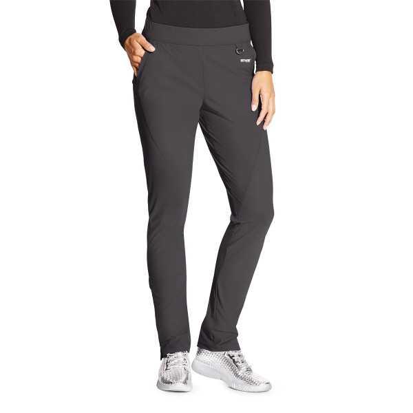 """Pantalon médical femme, couleur gris anthracite vue de face, collection """"Grey's Anatomy Edge"""" (GEP005-)"""