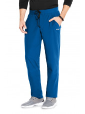 "Pantalon médical homme, couleur bleu royal vue de face, collection ""Grey's Anatomy Edge"" (GEP002-)"