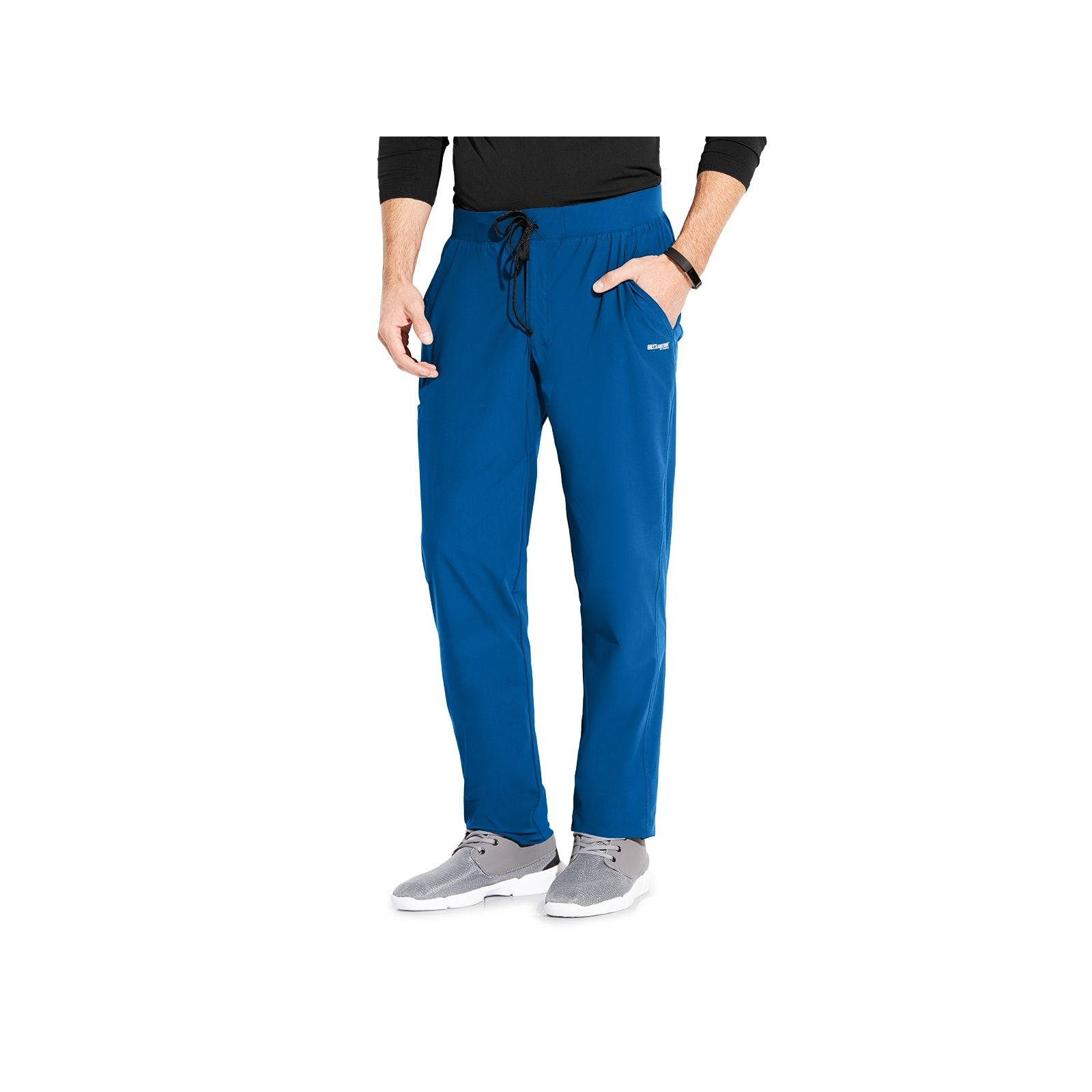 "Pantalon médical homme, couleur bleu royal vue de face, collection ""Grey's Anatomy Edge"" (GEP002-)"