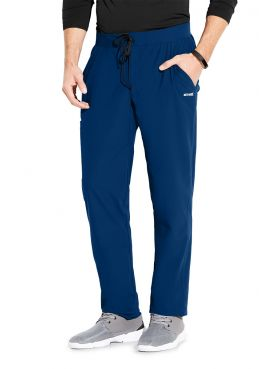 "Pantalon médical homme, couleur bleu marine vue de face, collection ""Grey's Anatomy Edge"" (GEP002-)"