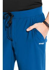 """Pantalon médical homme, couleur bleu royal vue détail, collection """"Grey's Anatomy Edge"""" (GEP002-)"""